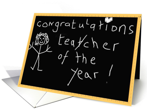 Congratulations Teacher Of The Year Card 214063