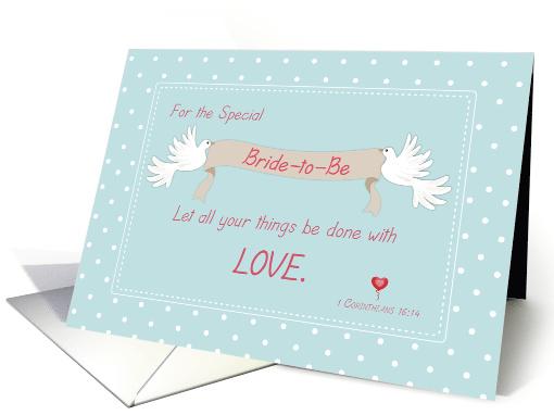 Bridal Shower Doves Religious Card 1141662