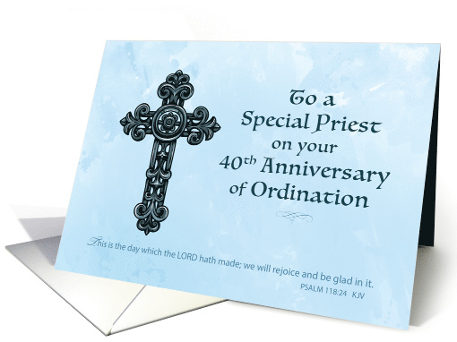 40th Forty Year Ordination Anniversary Priest Ornate