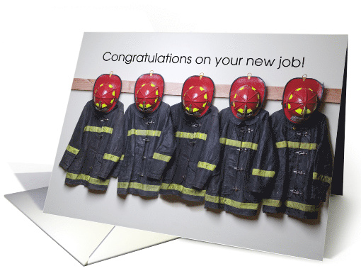 Congratulations To Firefighter On New Job Red Helmets And