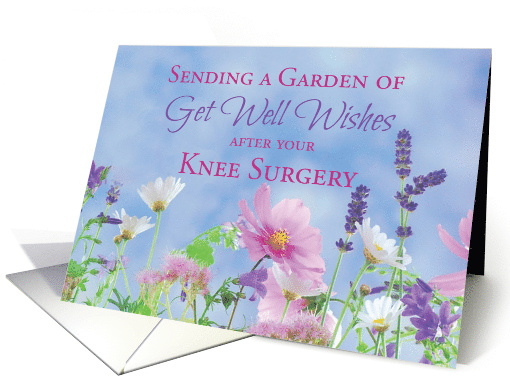 Get Well After Knee Surgery Garden With Flowers Card