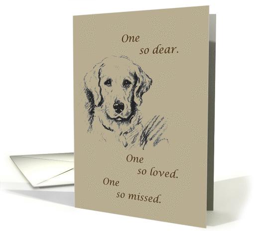 Dog Sympathy So Missed Card 146774