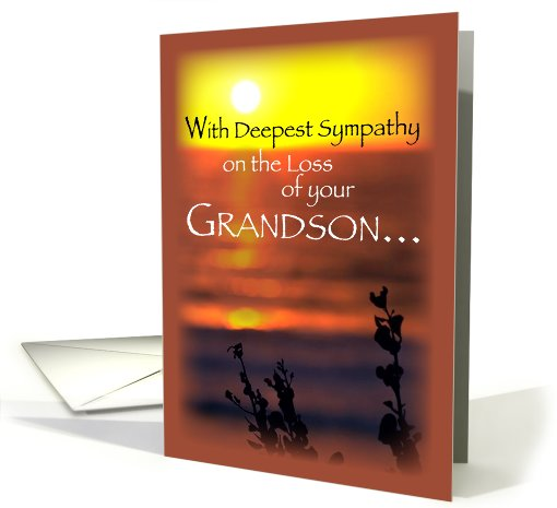 Sympathy Loss Of Grandson Sunset Card 527765