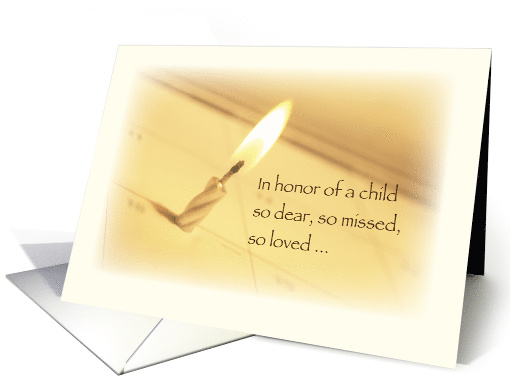 Honoring In Remembrance On Birthday Child Death Card 933953