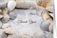 Beach Themed Thank You For The Wedding Gift Ss Rings Sand Card