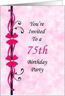 75th birthday invitations from greeting