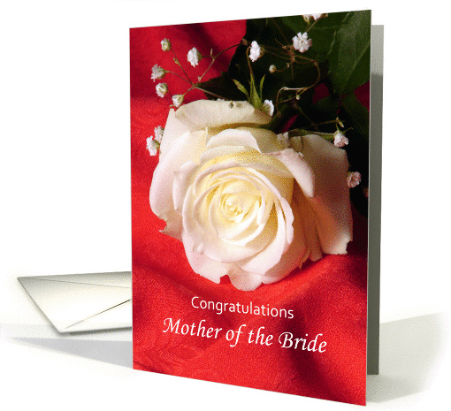 Congratulations Mother Of The Bride Greeting Card White