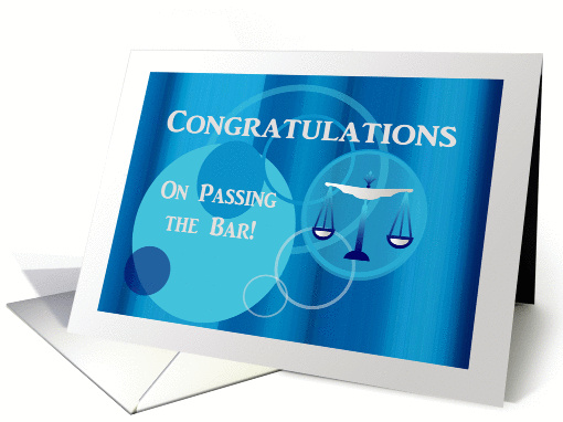 Congratulations Passing The Bar Scales Aqua Blue Circle