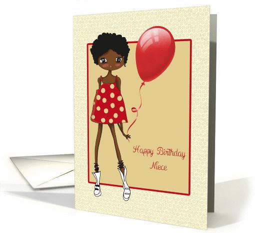 Modern African American Girl Birthday For Niece Card 1359412