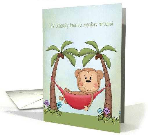 Retirement Wishes Monkey In Hammock Card 1436508