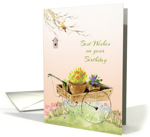 Garden Scene Birthday Wishes Card 1439750