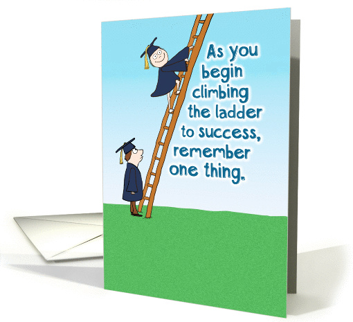 Funny Ladder Of Success Graduation Card 1374574