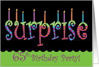 65th surprise birthday invitations from