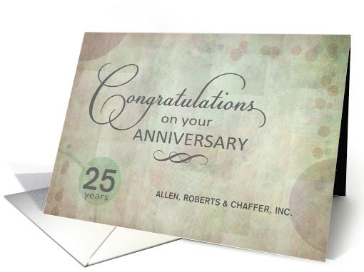 Employee 25th Anniversary Congratulations Custom Name