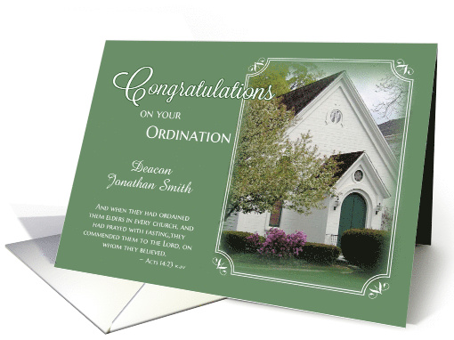 Deacon Ordination Congratulations Card 505521