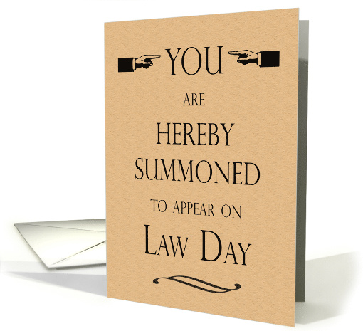 Law Day Event Invitation Serving Summons To Appear Humor Card