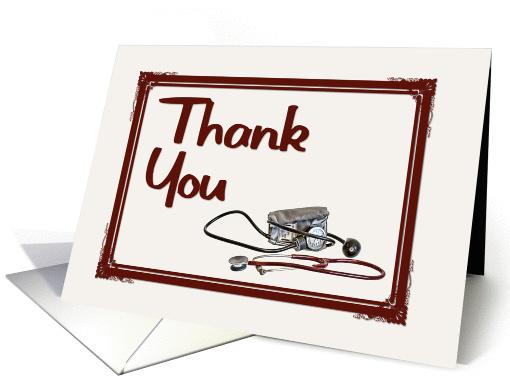 Medical Staff Thank You StethoscopeBP Cuff Card 887687
