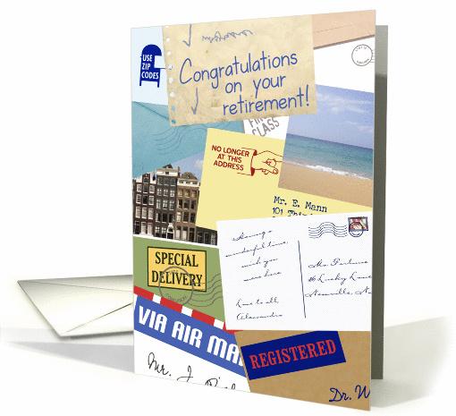 Congratulations Mail CarrierPostal Worker Retirement Card