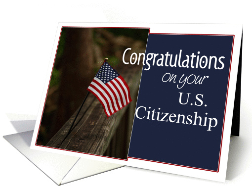 US Citizenship Congratulations Flag Card 862605