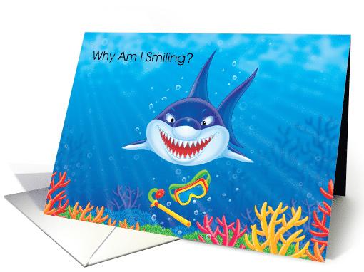 Scuba Diving Certification Congratulations Smiling Shark Card