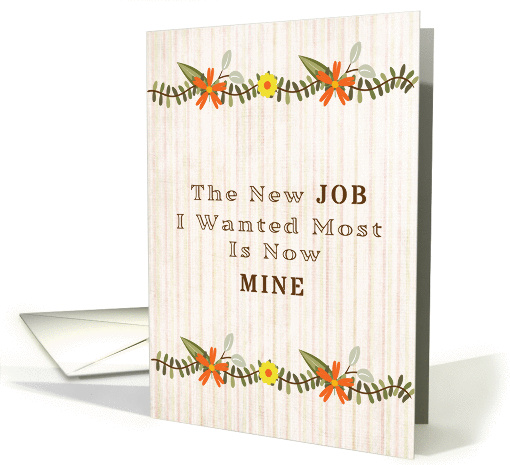 New Job Announcement Card 1424370