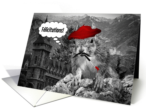 French Language Congratulations French Squirrel Painter