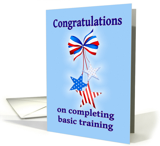 Congratulations Completing Basic Training Patriotic Card