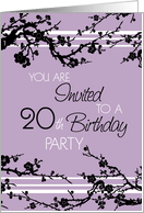 20th birthday invitations from greeting