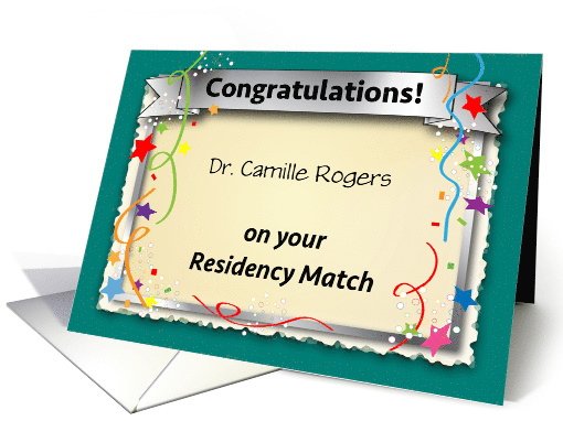 Congrats Residency Match Day Physician Card 1445224