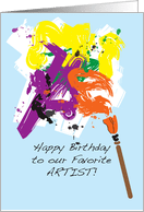 Birthday Cards For My Artist From Greeting Card Universe