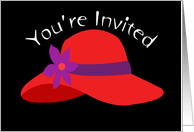 Red Hat Invitation Card