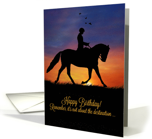 Dressage Happy Birthday Its All About The Ride Card 1481632