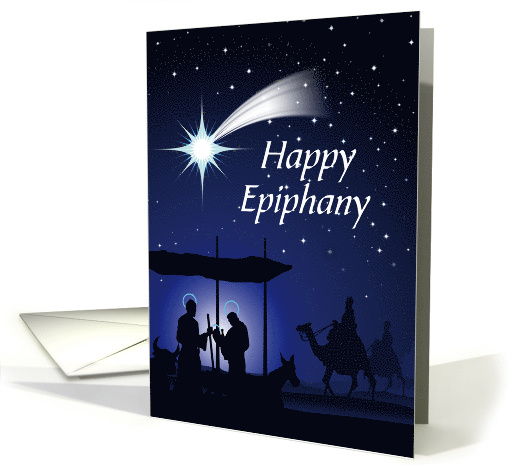 Happy Epiphany Starry Night Card 1409456