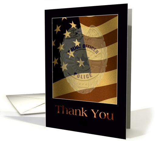 Thank You Police And Law Enforcement Card 599825