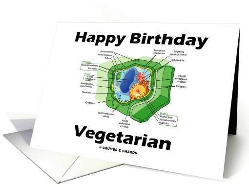 Happy Birthday Vegetarian Green Plant Cell Card 873049