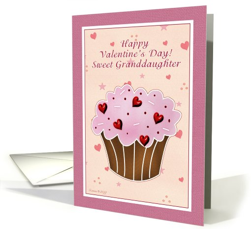 Granddaughter Happy Valentines Day Cupcake Card 752606