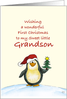 Babys First Christmas Cards For Grandson From Greeting