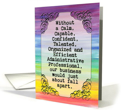 Administrative Professionals Day Card Vintage Banner
