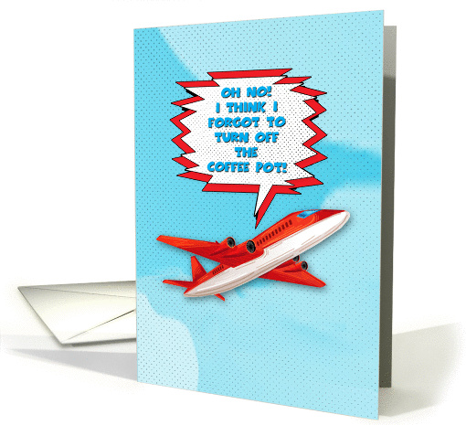 Bon Voyage Enjoy Vacation Funny Plane In Sky Cartoon Style