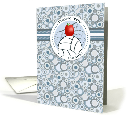 Apple And Volley Ball Physical Education Teacher Thank