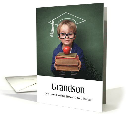 For The High School Graduation Of An Only Grandson Card
