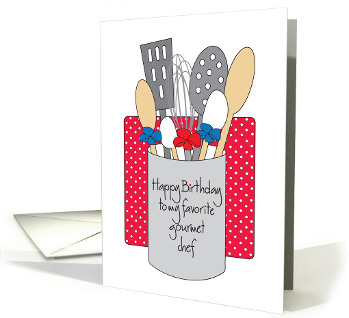 Birthday To Gourmet Chef Cooking Utensils And Wallaper