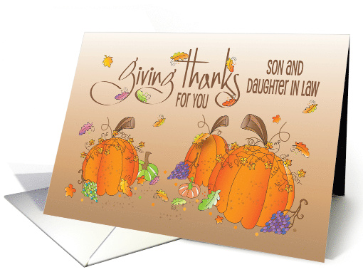 Happy Thanksgiving Son Amp Daughter In Law Card 1143572