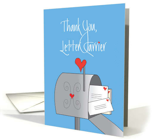 Thank A Mail Carrier Day Mailbox With Stamped Letters