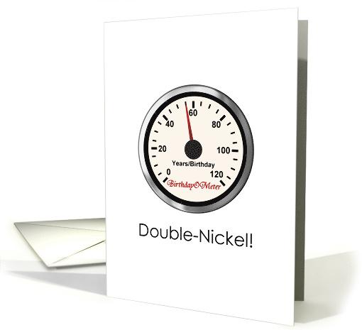 55th Birthday Double Nickel A Birthdayometer Card 1337040