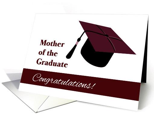 Congratulations For Mother Of Graduate Grad Cap Card