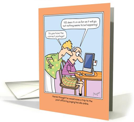 Funny Birthday Computer Joke Card 1292446