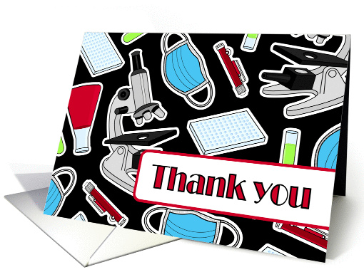 Laboratory Technician Thank You Card Black Card 1278012