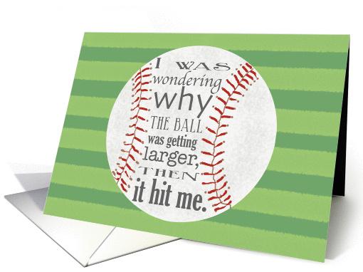 Invitation For End Of Baseball Season Team Party Card
