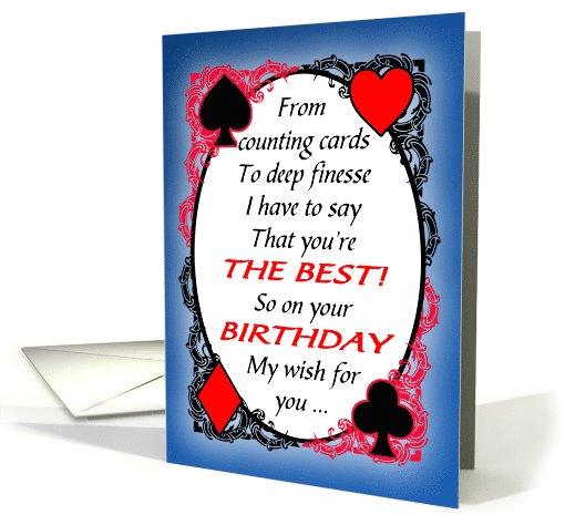 Bridge Player Or Partner Funny Birthday Card 1102944